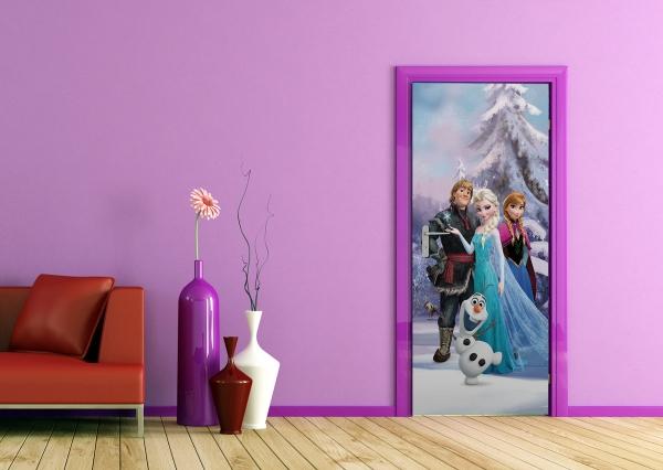 Fototapet Elsa, Anna, Kristoff si Olaf