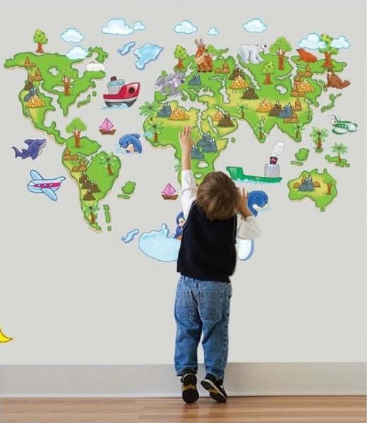 Harta animata a lumii pentru copii
