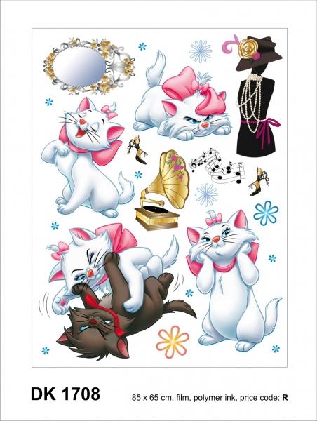 Sticker Pisicile aristocrate - Cats - 65X85cm - DK1708 1