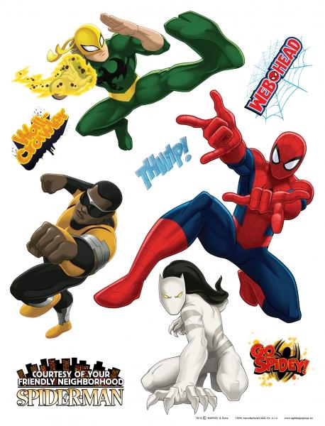 Sticker Spiderman si Eroi Marvel -  65x85cm - DK1775