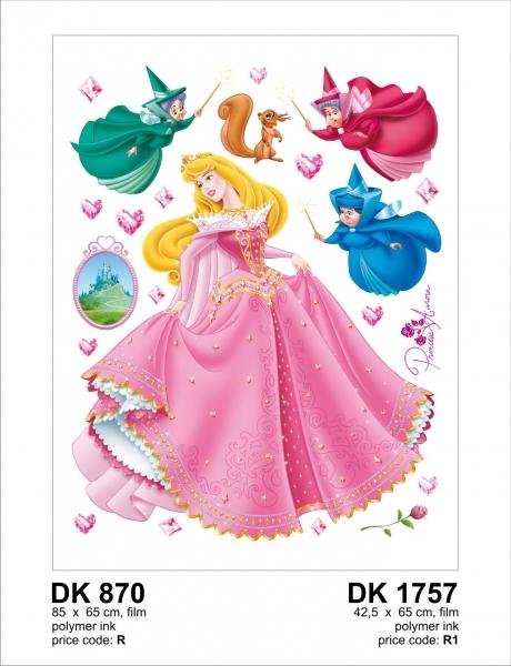 Sticker Frumoasa din Padurea Adormita - Aurora si Ursitoarele - 65x85cm - DK870