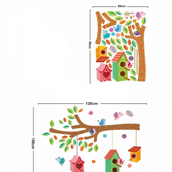 Sticker camera bebe - Casute pentru pasari pe creanga