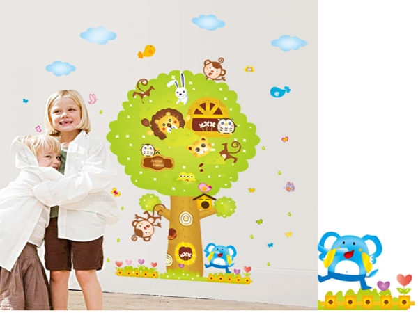 Sticker camere copii - Copacul Urias 2
