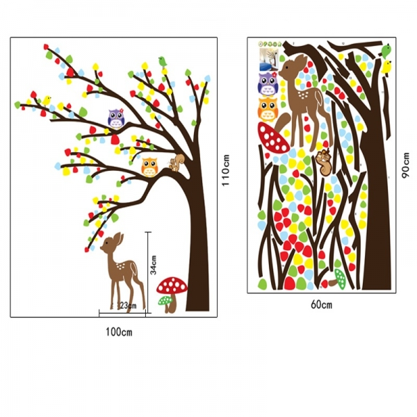 Sticker de perete camera copilului - Caprioara in padure 1