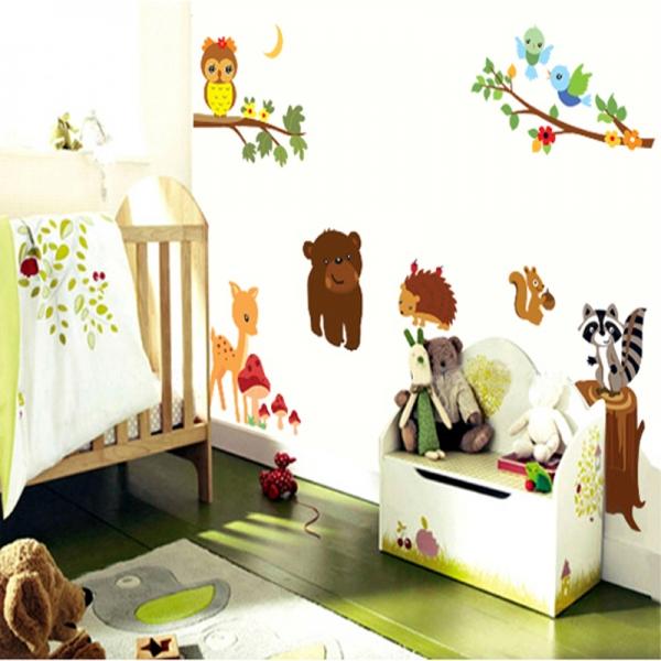 Autocolant de perete camere copii - Animalele padurii 2