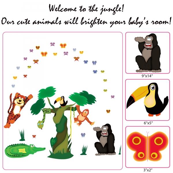 Sticker decorare camere copii - In jungla 4