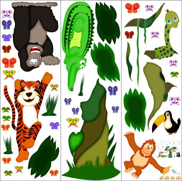 Sticker decorare camere copii - In jungla 2