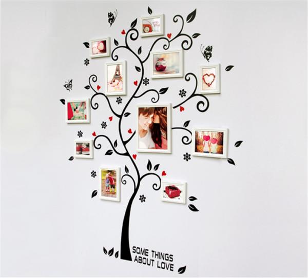 Sticker decorativ - Copac cu frunze si inimioare 3