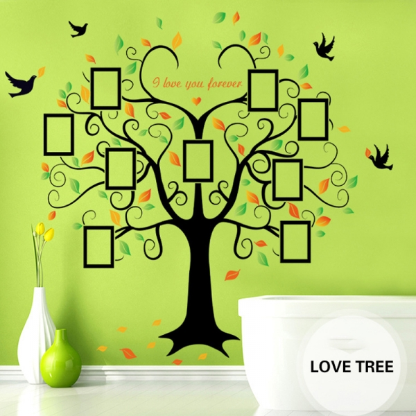 Sticker decorativ - Copacul iubirii cu rame foto 3