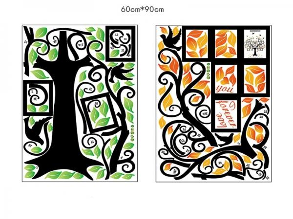 Sticker decorativ - Copacul iubirii cu rame foto 5