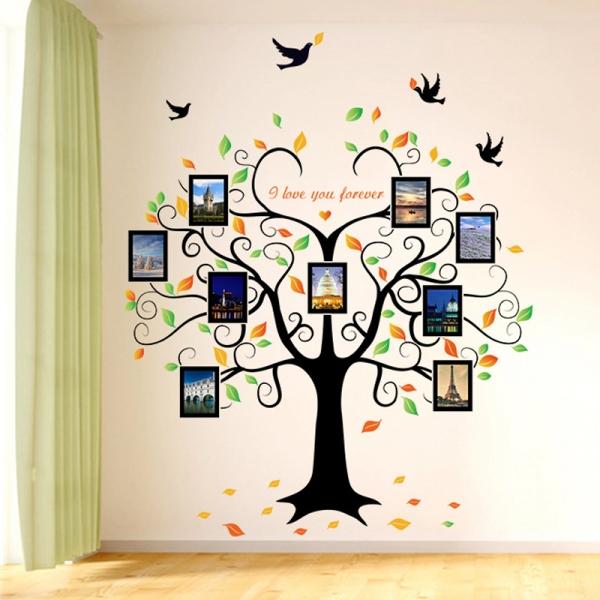 Sticker decorativ - Copacul iubirii cu rame foto 1