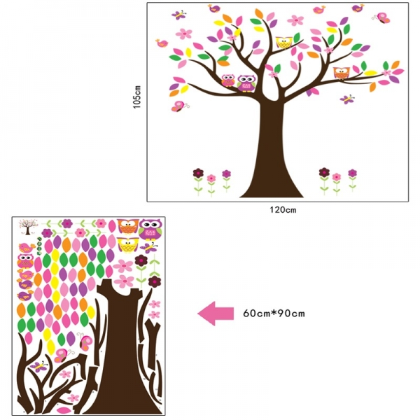 Sticker decorativ copii - Copacelul roz