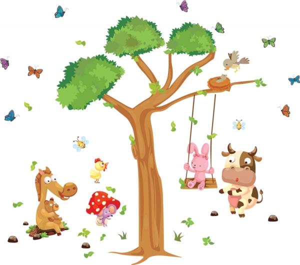 Sticker decorativ copii - Joaca in padure