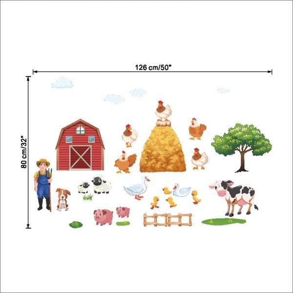 Sticker pentru copii - Animale la ferma 8