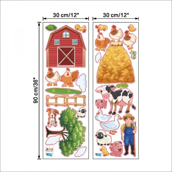 Sticker pentru copii - Animale la ferma 7