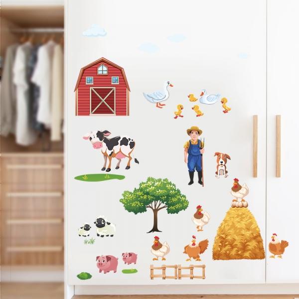 Sticker pentru copii - Animale la ferma 3