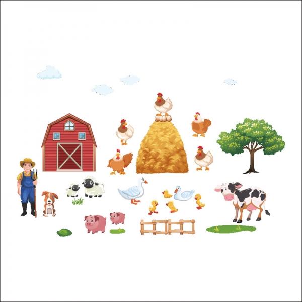 Sticker pentru copii - Animale la ferma 5