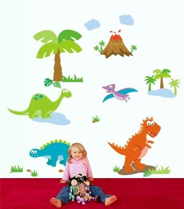 Sticker decorativ copii - Lumea dinozaurilor 1