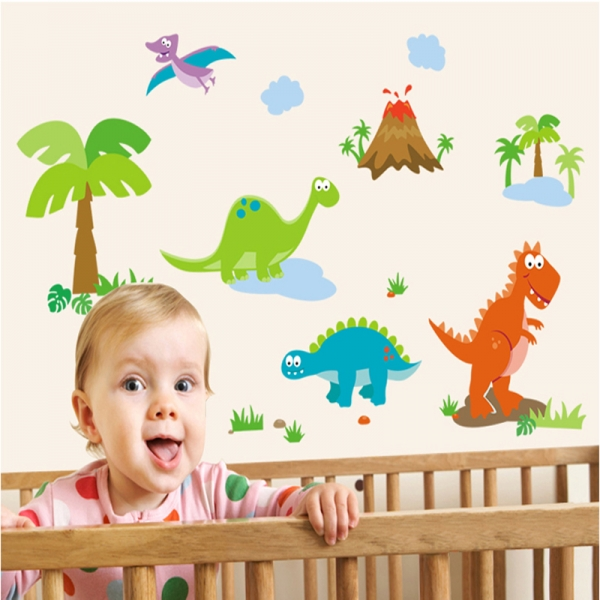 Sticker decorativ copii - Lumea dinozaurilor 2