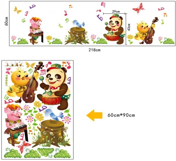 Sticker decorativ copii - Muzicienii veseli 5