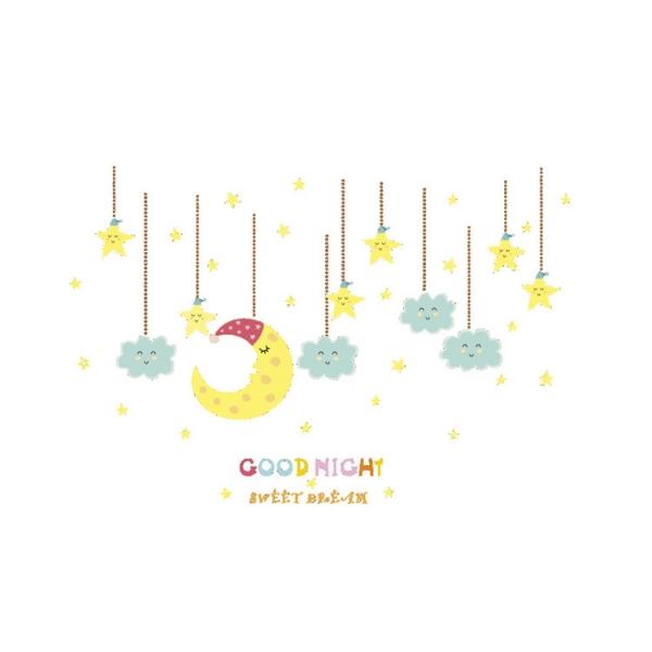 Sticker camera bebe - Luna, stele si nori