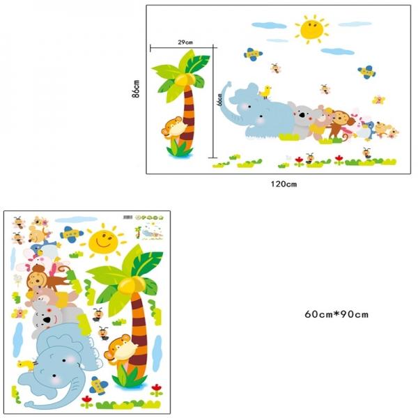 Sticker decorativ copii - Trenuletul animalelor 5