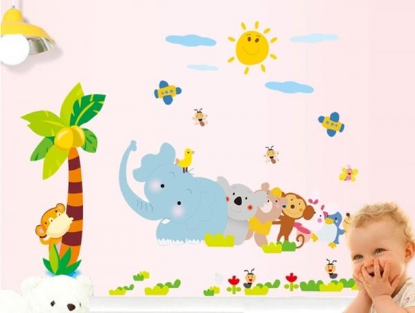 Sticker decorativ copii - Trenuletul animalelor 4