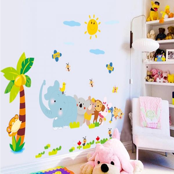 Sticker decorativ copii - Trenuletul animalelor 2