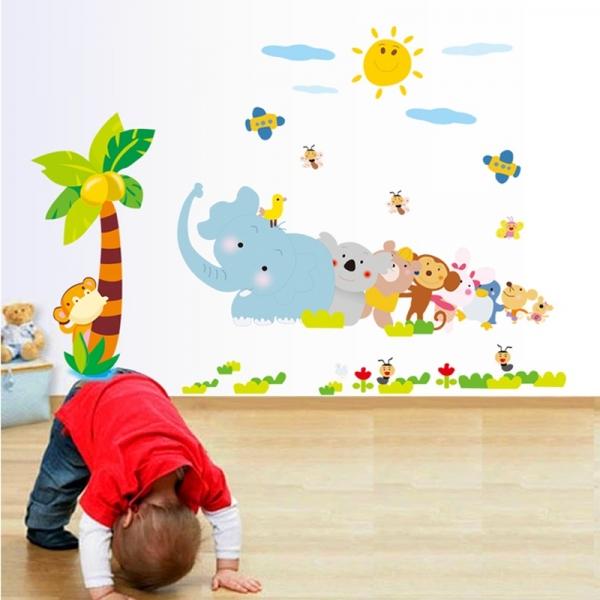 Sticker decorativ copii - Trenuletul animalelor 1