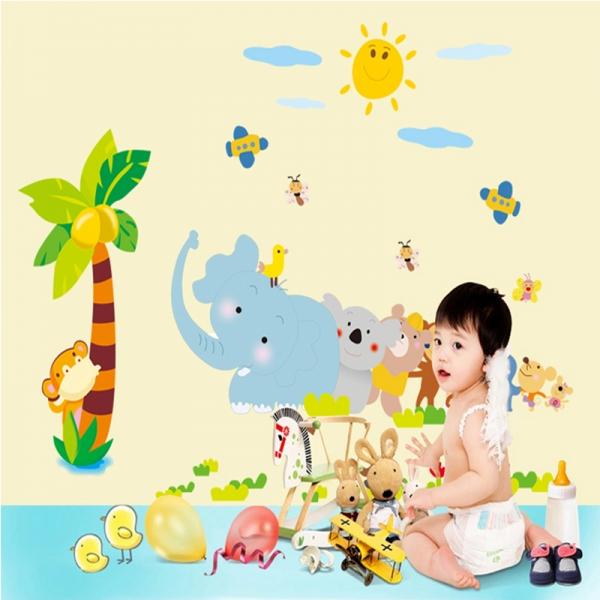Sticker decorativ copii - Trenuletul animalelor 0