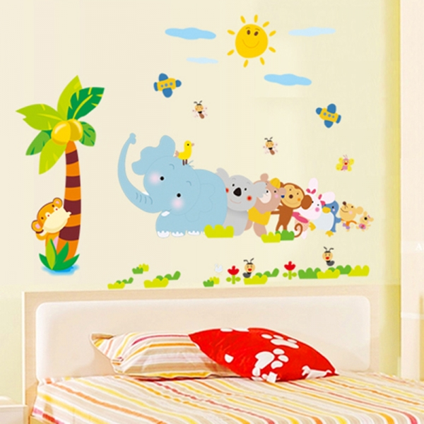 Sticker decorativ copii - Trenuletul animalelor 3