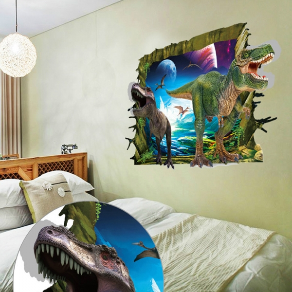 Sticker decorativ de perete 3D - Dinozauri 3