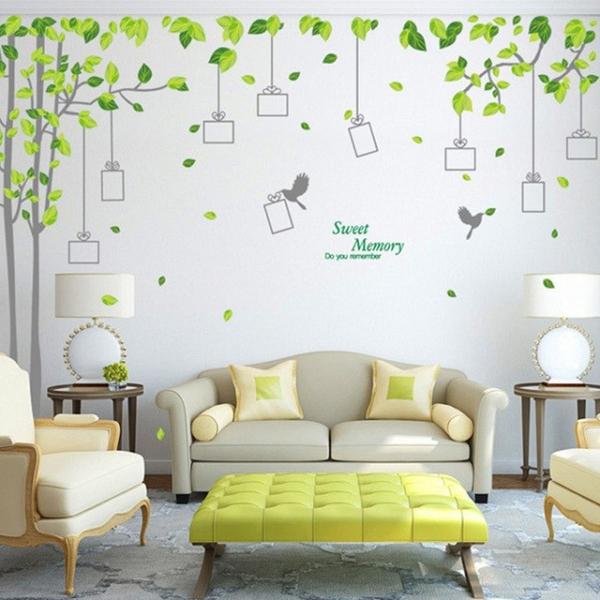 Sticker decorativ - Padure verde cu rame foto 0