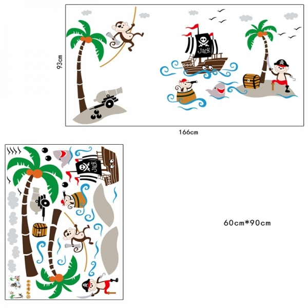 Sticker decorativ pentru baieti - Piratii naufragiati 6