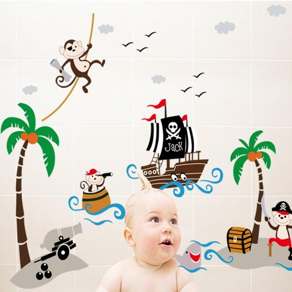 Sticker decorativ pentru baieti - Piratii naufragiati 1