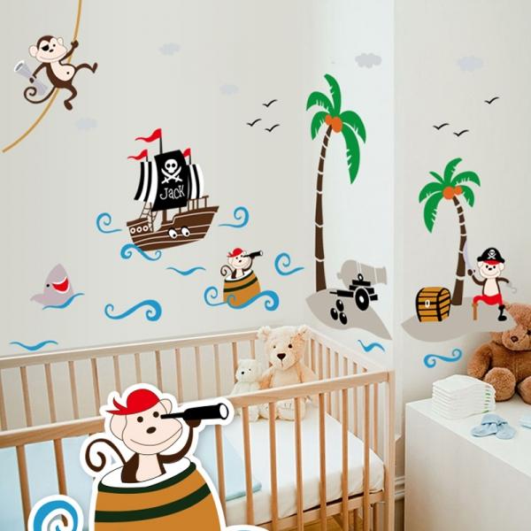 Sticker decorativ pentru baieti - Piratii naufragiati 0