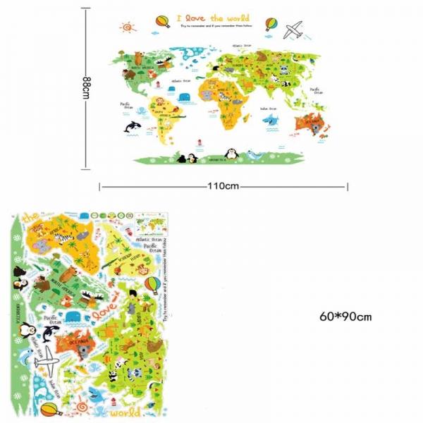 Sticker educativ - Harta animata a lumii pentru copii 3