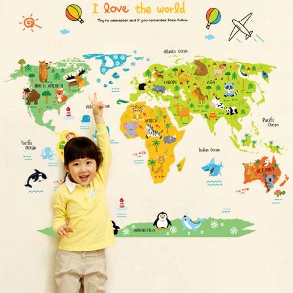 Sticker educativ - Harta animata a lumii pentru copii 2