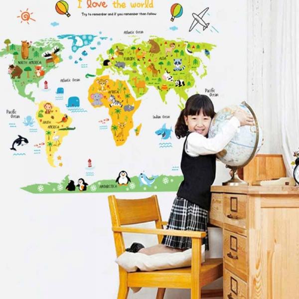 Sticker educativ - Harta animata a lumii pentru copii 0