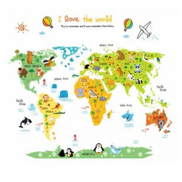 Sticker educativ - Harta animata a lumii pentru copii 4