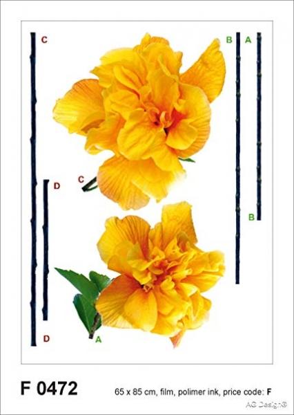 Sticker Garoafa Galbena - Carnation - 65x85cm - F0472