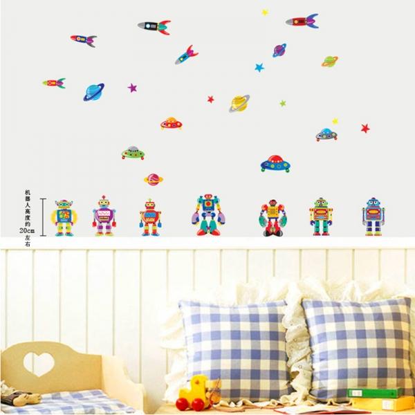 Sticker pentru copii - Robotei spatiali 0