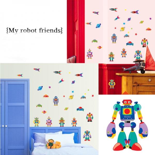 Sticker pentru copii - Robotei spatiali 4