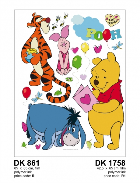 Sticker Winnie the Pooh si Prietenii - 65x85cm - DK861 1