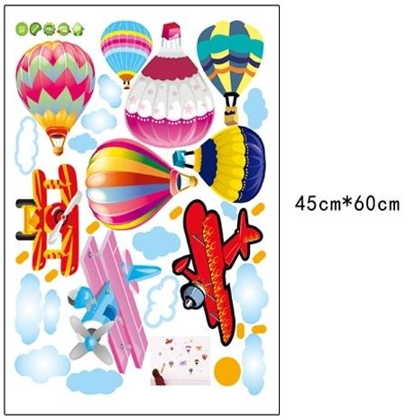 Sticker perete pentru camera copilului - Baloane si avioane 6
