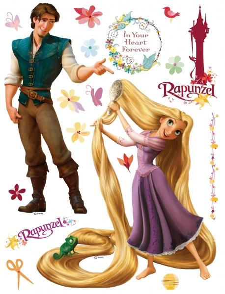 Sticker Rapunzel si Printul Eugene - 65x85cm - DK852 0