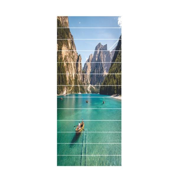 Sticker scara interioara - In barca pe lac - 13 folii de 18x100 cm