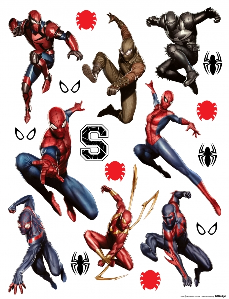 Sticker Spiderman si Spiderwoman - 65x85cm - DK1798