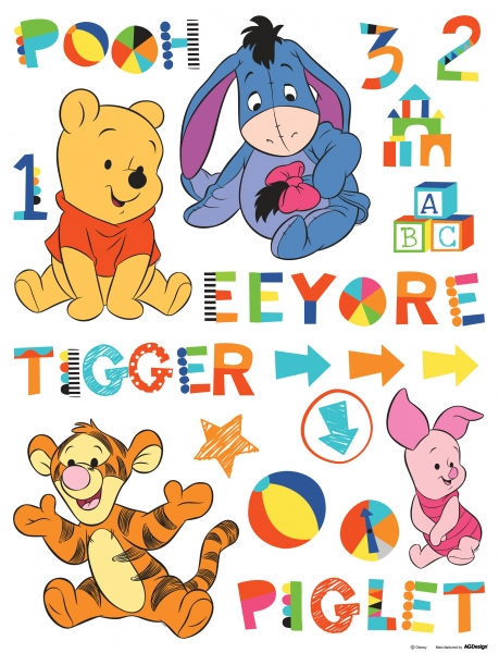 Sticker Winnie the Pooh si Prietenii in copilarie- 65x85cm - DK892 0