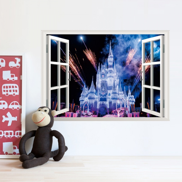 Stickere 3D pentru fete- Castel cu artificii 0
